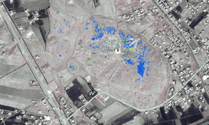 New looting pits identified at Mari between March and November 2014. Dense areas of disturbance can be in the central and northern areas of the site.