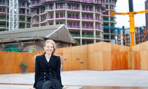 Sian Berry at the Kings Cross development site, north London in December 2015