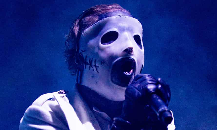 Raging showman … Corey Taylor of Slipknot at Manchester Arena.