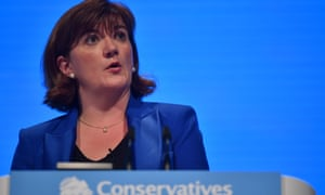 Culture secretary Nicky Morgan addresses the 2019 Conservative party conference in Manchester.