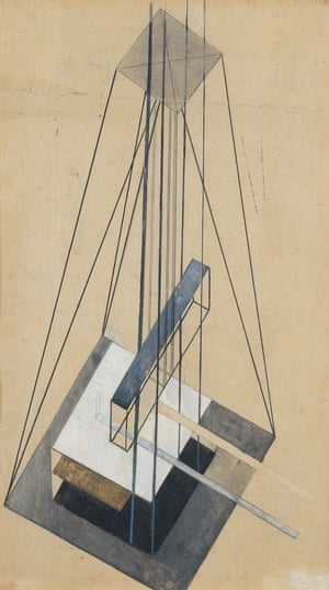 Gustav Klutsis, Architectural Study, 1920-1921