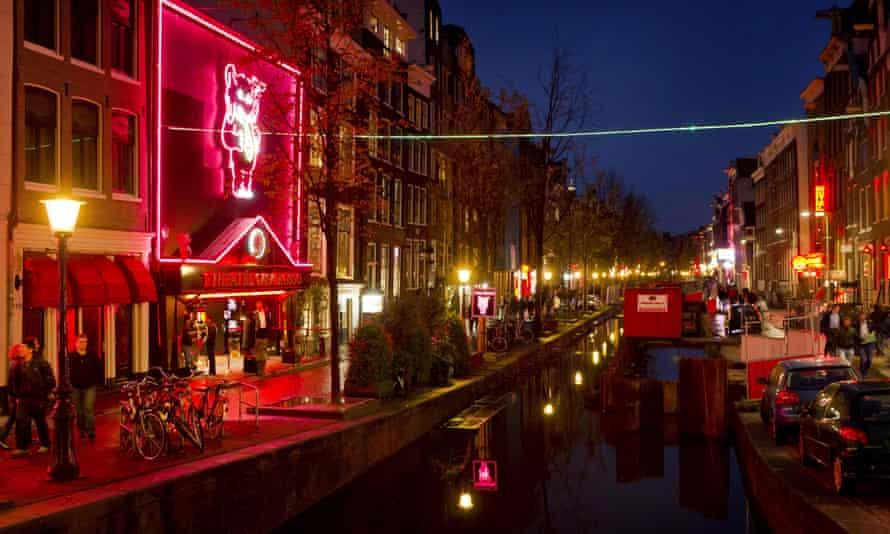 The De Wallen area in Amsterdam