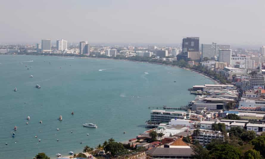 The beach town of Pattaya, east of Bangkok.