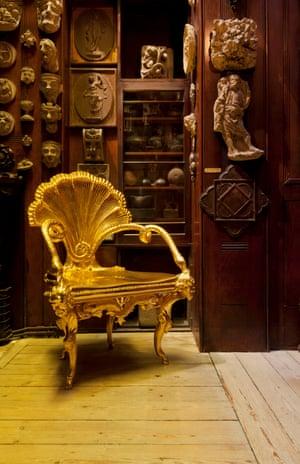 Piranesi furniture recreated at Sir John Soane's Museum.