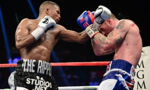George Groves covers up against Badou Jack