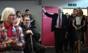 Jeremy Corbyn arriving for his speech.