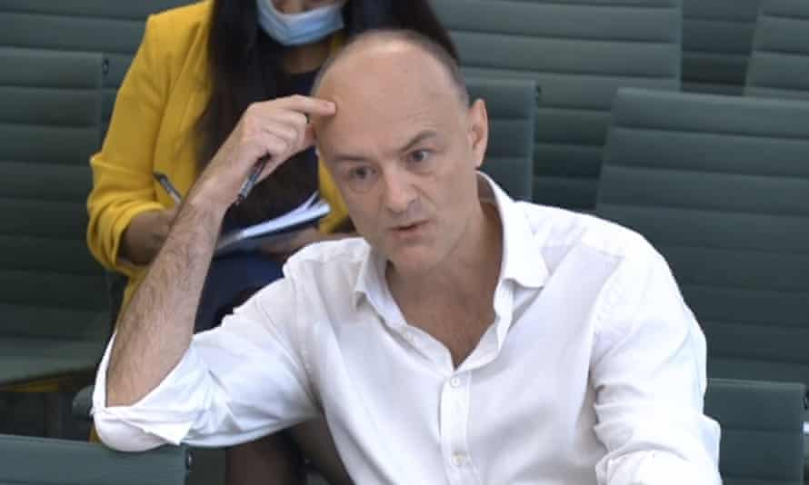 Dominic Cummings gives evidence before MPs