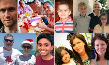 Victims of the Sri Lanka attacks