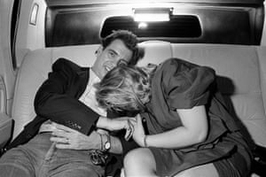 Morton Downey Jr and his wife, Fort Lee, New Jersey, 1989 by Kathy Shorr