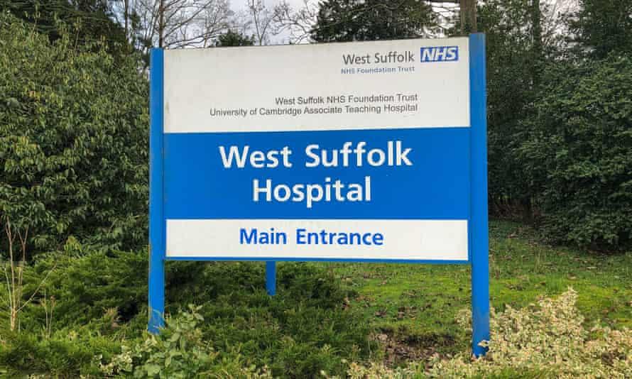 West Suffolk Hospital signpost