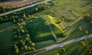 Monk's Mound, centrepiece of the Cahokia world heritage site in southern Illinois.
