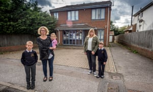 Patients Kay Charnley (left) with Oliver, 7, and Izabel, 2, and Anna Ashley with Lara-Mae, 7, at  Woodingdean's Ridgeway surgery, which closes  next month