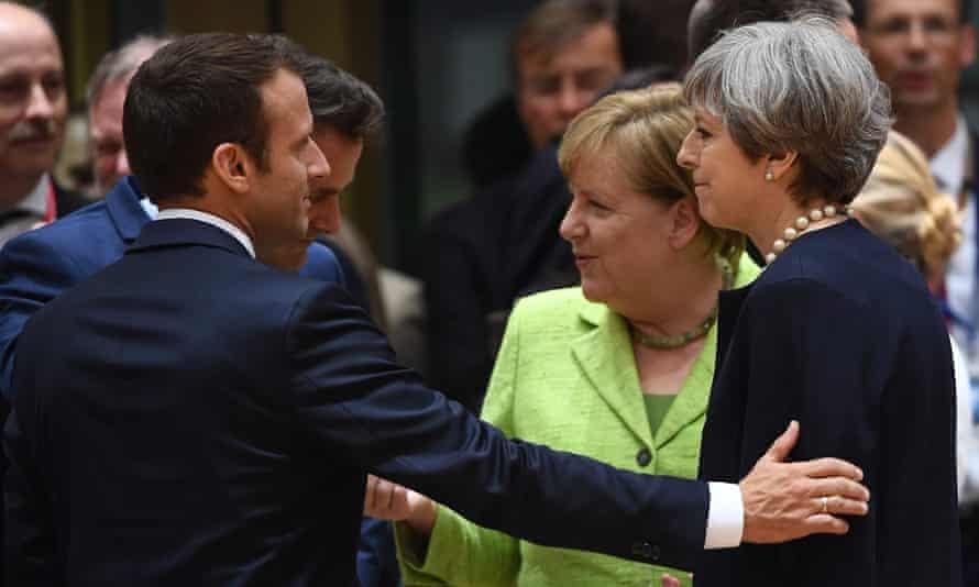 Macron, Merkel and May
