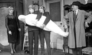 Loot at the Jeanette Cochrane Theatre, with Sheila Ballentyne, Simon Ward, Kenneth Cranham and Michael Bates. Opened 27 September 1966
