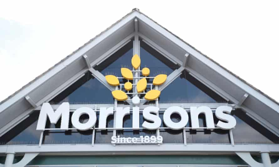 Morrisons sign on one of its stores