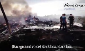 Screengrab from News Corp video of MH17 crash site Released on first anniversary of crash.