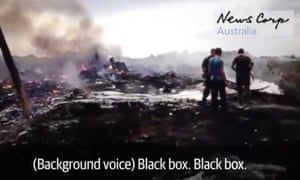 Screengrab from the News Corp video which includes subtitled voices.