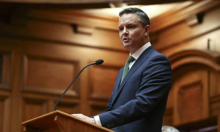 New Zealand minister for climate change, and co-leader of the Green Party, James Shaw.