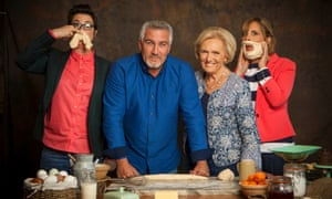Great British Bake Off judges Sue Perkins, Paul Hollywood, Mary Berry, Mel Giedroyc