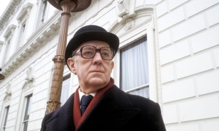 Alec Guinness as George Smiley in the BBC adaptation of John Le Carré's Tinker Tailor Soldier Spy