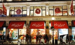Hamleys toy shop in London.