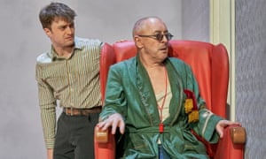 Not hanging around … Daniel Radcliffe and Alan Cumming in Endgame at the Old Vic.