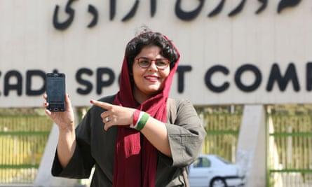 Iranian sports journalist Raha Pourbakhsh