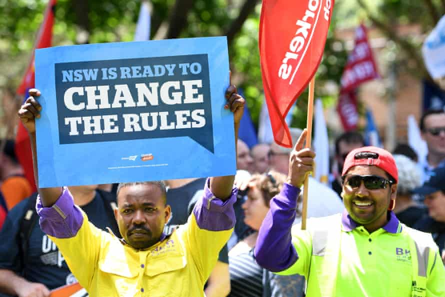 Workers call for better pay and working conditions in Sydney