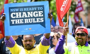 'Change the Rules' unions protest
