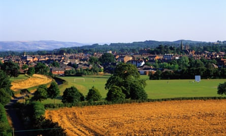The town of Oswestry, Shropshire.