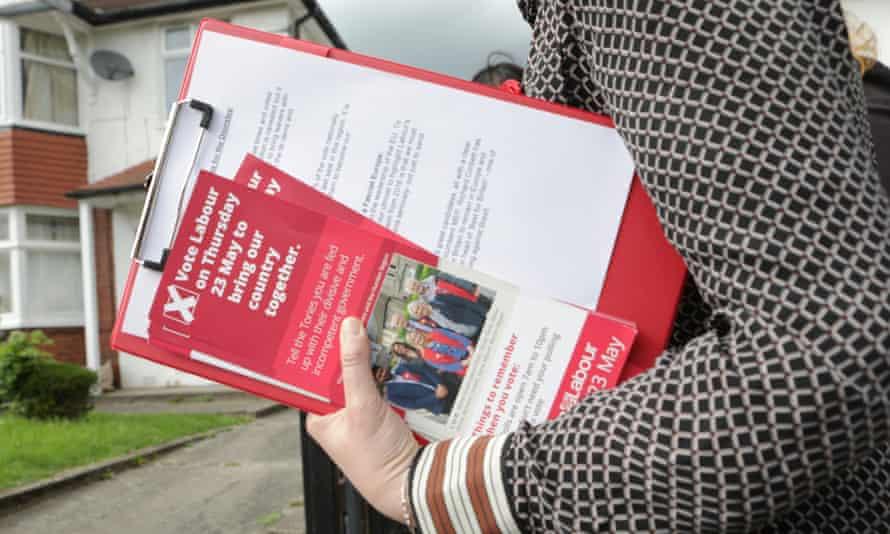 Labour election leaflets.