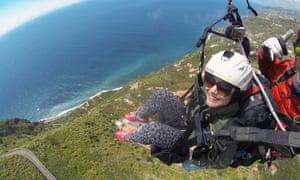 Rachel Dixon paragliding in Madeira