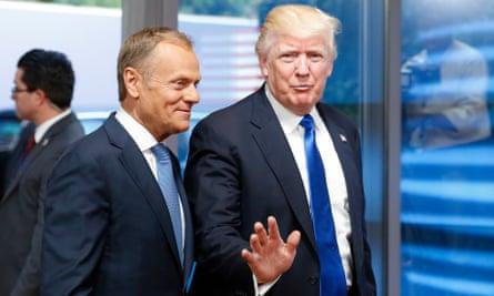 Donald Tusk and Donald Trump.