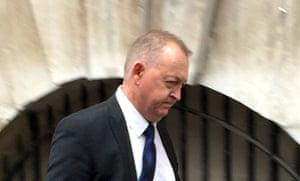 Peter Lower  leaves Bristol crown court