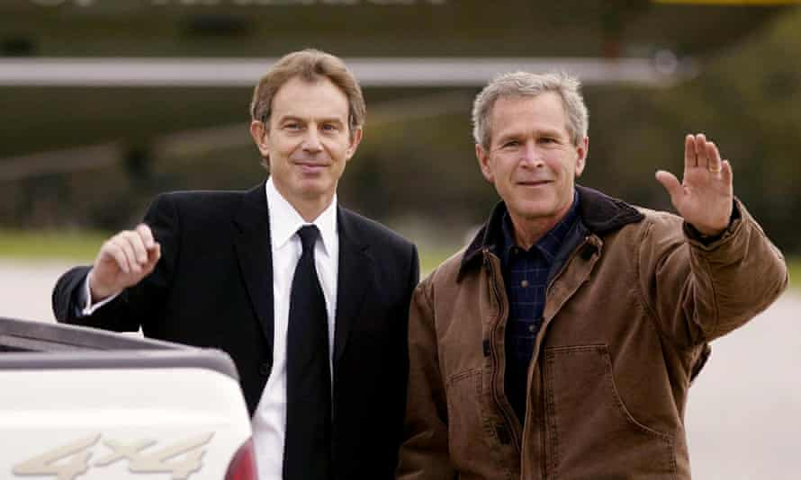 What did Blair promise Bush about Britain's involvement in the US-led invasion of Iraq?