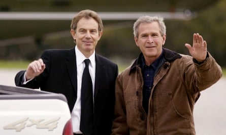Tony Blair and George W Bush: 'Blair told visitors to No 10 that one of his objectives was to prove that a Labour prime minister could work with a Republican president of the US.'