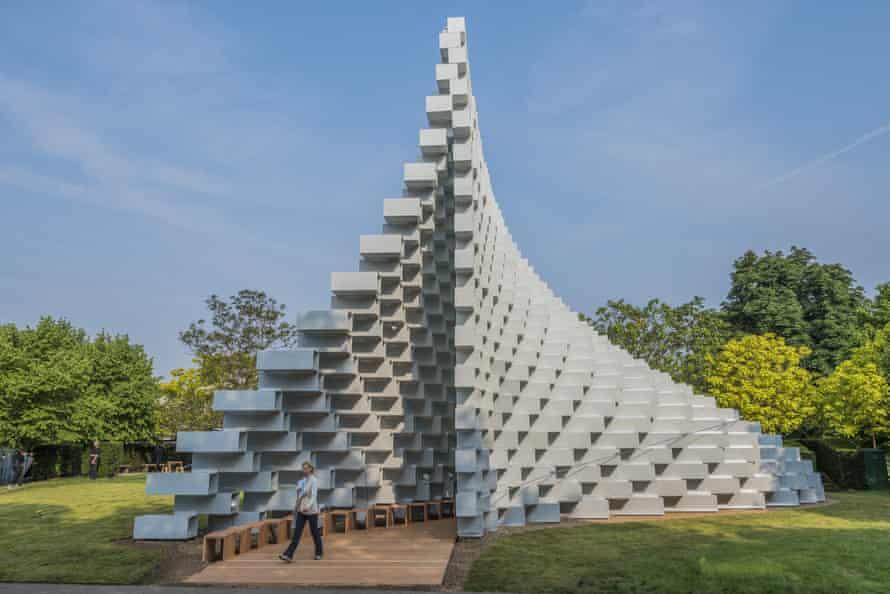Bjarke Ingels Group's undulating pyramid of blocks.