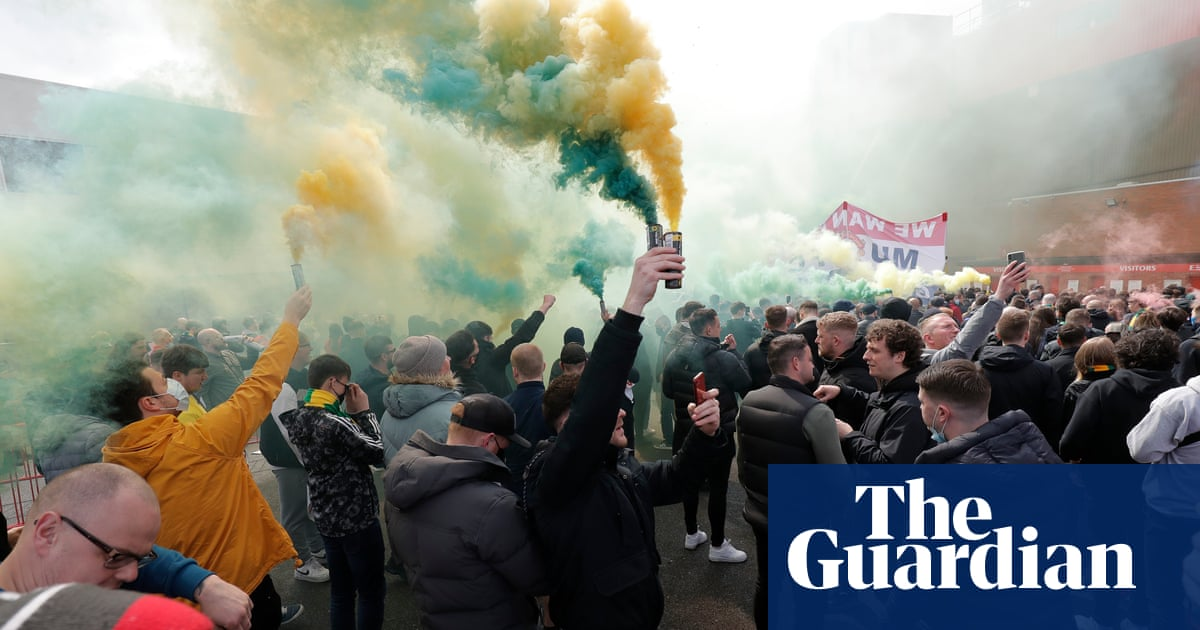 'The beautiful game is gone': Manchester reacts to fan protests | Manchester United | The Guardian thumbnail