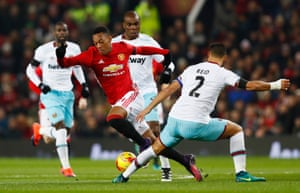 Martial, tripped by Reid.