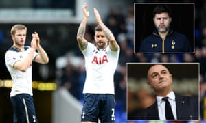 Clockwise from left: Eric Dier, who is wanted by Manchester United; Kyle Walker, who is set to join Manchester City; Mauricio Pochettino; and Daniel Levy.