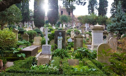 "The ""Cimitero Acattolico, often referred to as the Protestant Cemetery or Englishmen's Cemetery."