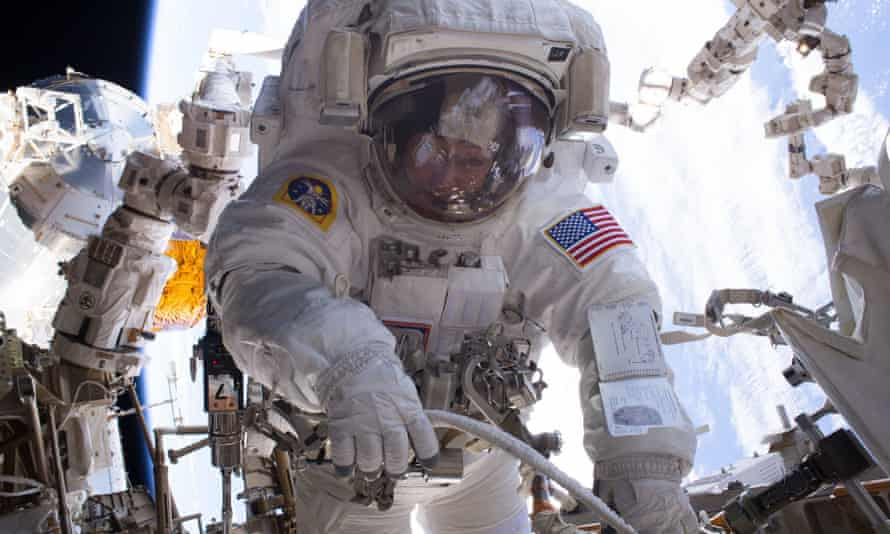 Nasa astronaut Peggy Whitson in space