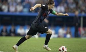 Russia v Croatia Luka Modric