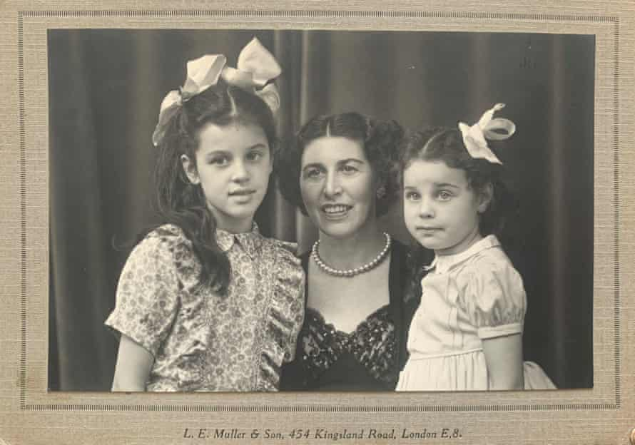 Esther Freud's grandmother, aunt and mother (left), 1950.