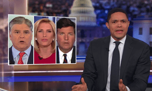 Trevor Noah: 'If you got rid of all the conspiracy theorists, propagandists and liars, Fox News would just be a bunch of empty couches and a sexual harassment settlement.'
