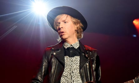Beck performing in 2018