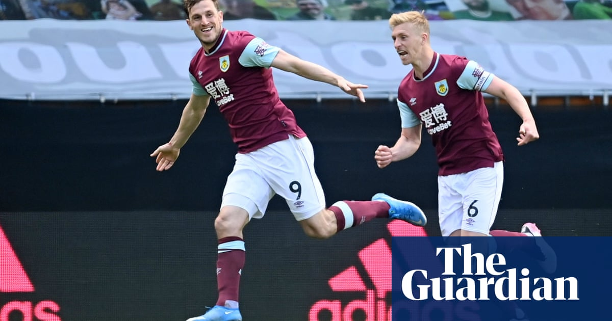 Burnley close to safety as Chris Wood's first-half hat-trick shatters Wolves
