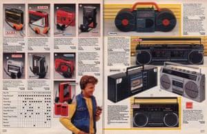 1986 Argos Walkmans and Ghetto blasters