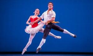 Francesca Hayward and Marcelino SambéŽ in Tarantella part of the Mixed Programme by The Royal Ballet.