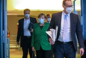 German Chancellor Angela Merkel met with state leaders to discuss the pandemic last night